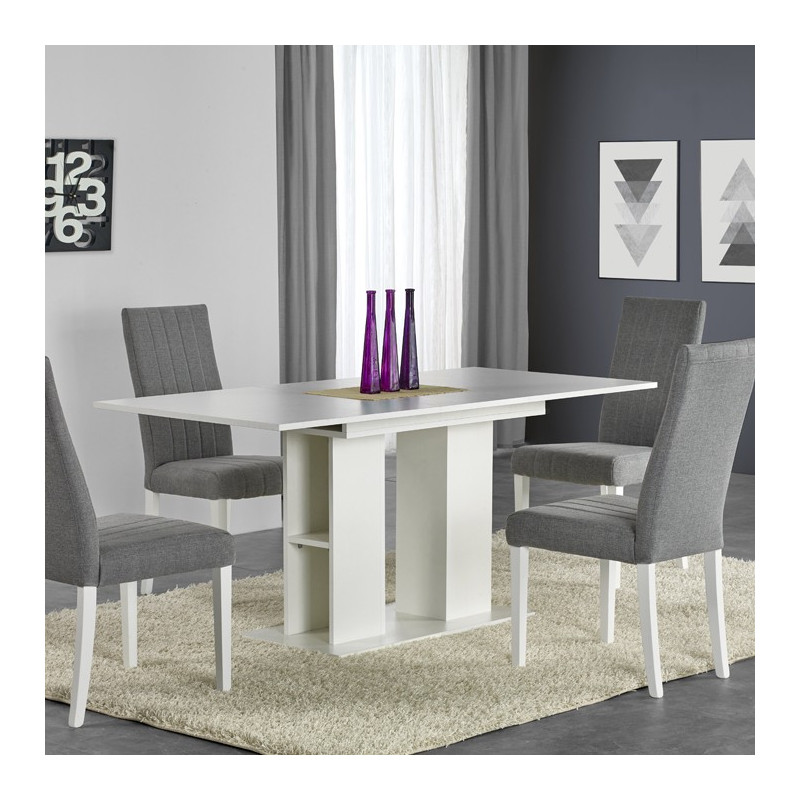table contemporaine blanche hortense so inside. Black Bedroom Furniture Sets. Home Design Ideas