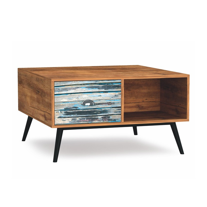 Table basse bois multicolore alto so inside - Table basse multicolore ...