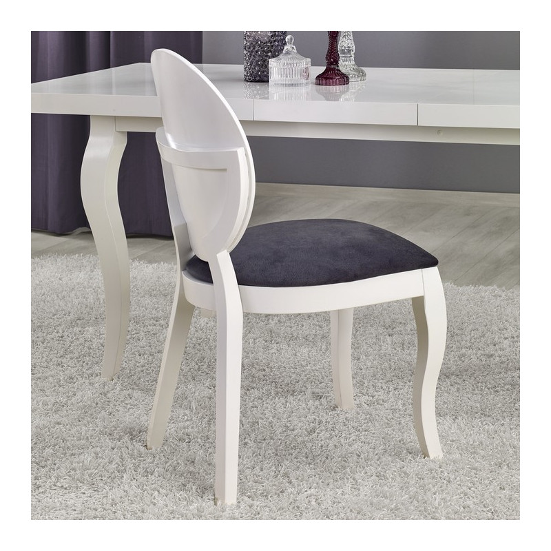 Chaise m daillon moderne blanche et gris vilta so inside for Chaise blanche et grise