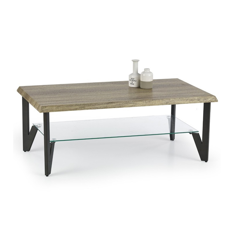 Table Basse Rectangulaire Bois Verre Et M Tal Sioban So Inside