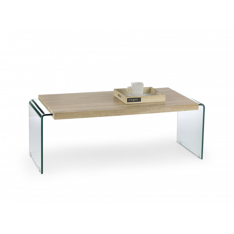 Table basse design bois et verre ma l so inside for Table basse scandinave verre et bois