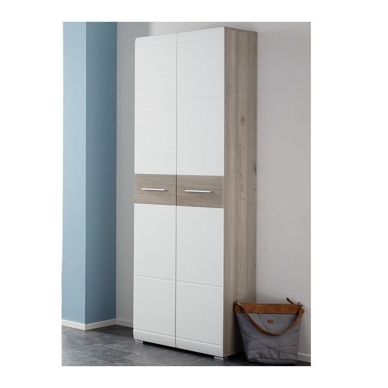 armoire scandinave pour entr e avec penderie et tag res. Black Bedroom Furniture Sets. Home Design Ideas