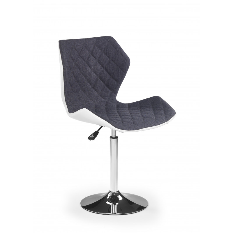 Fauteuil de bar design gris et blanc tallulah so inside for Chaise design gris et blanc