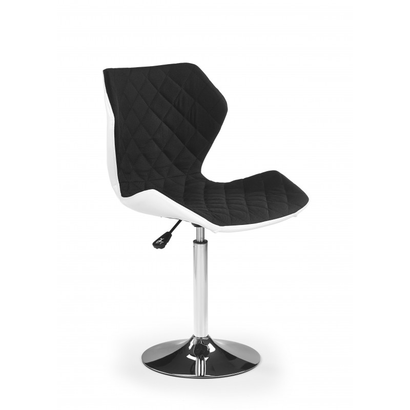 fauteuil de bar design noir et blanc tallulah so inside. Black Bedroom Furniture Sets. Home Design Ideas