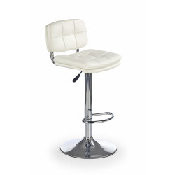 Chaise de bar confort design blanche Mila