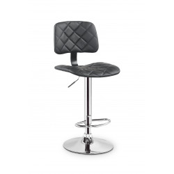 Chaise de bar design simili cuir noir Hamlet