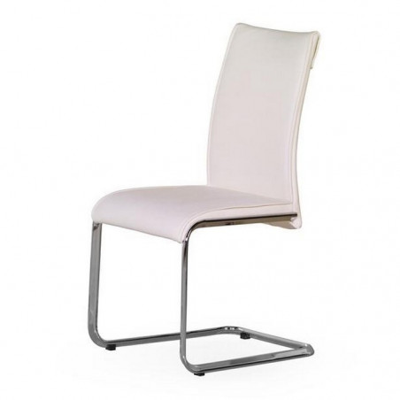 Chaise luge blanche Mado