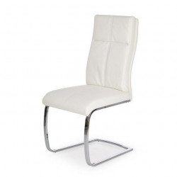 Chaise design blanche luge Cleo