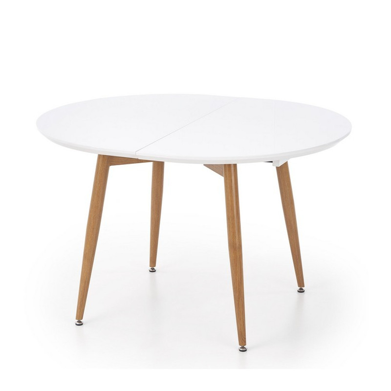 Table ovale extensible blanc free affordable table for Table ovale verre extensible