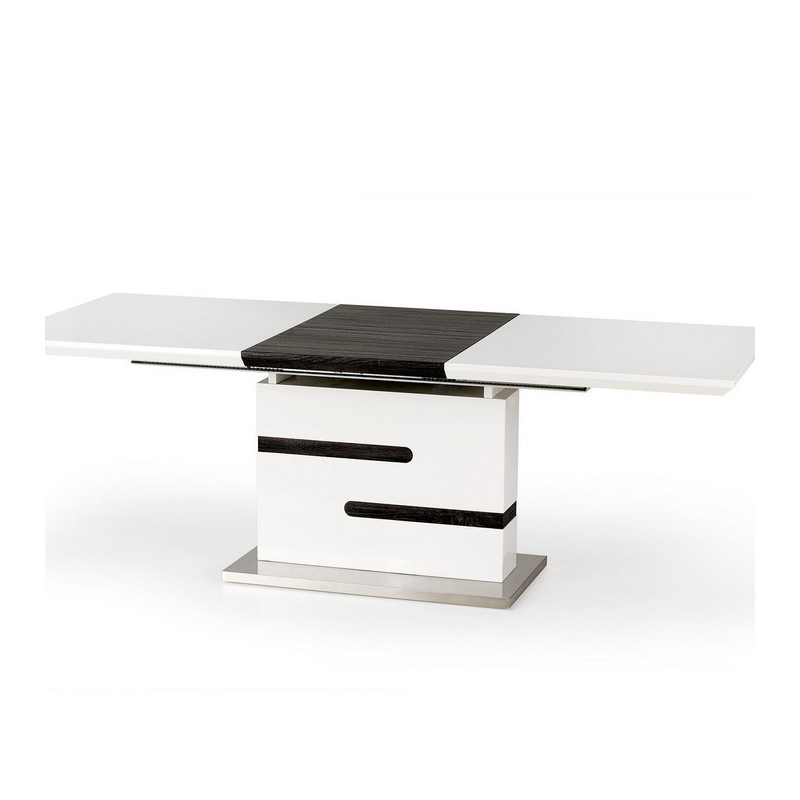 Table manger extensible design grise et blanche for Table a manger blanche design