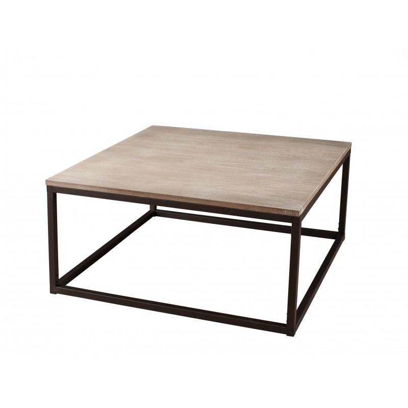 Table basse industrielle m tal et bois malone so inside for Table basse industrielle metal et bois