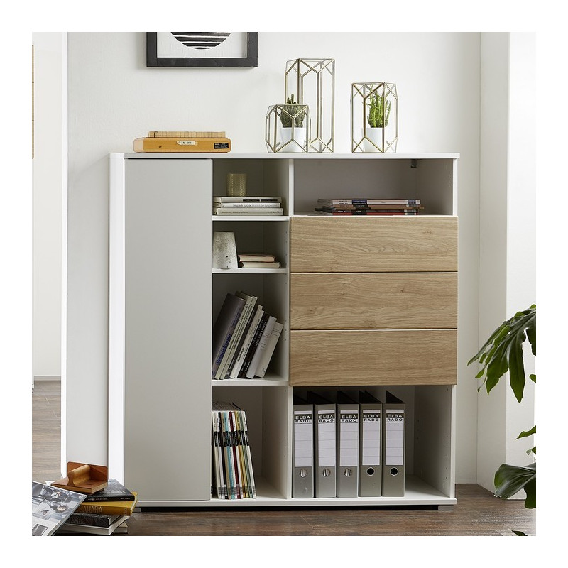 meuble de rangement bureau design oslo so inside. Black Bedroom Furniture Sets. Home Design Ideas