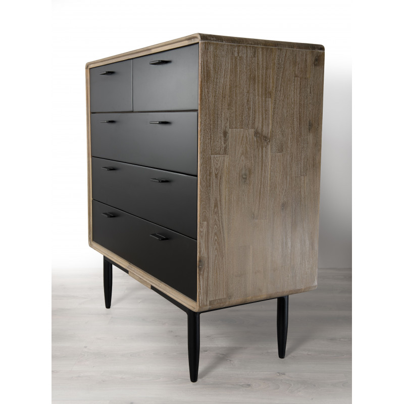 commode industriel noir et bois olana so inside. Black Bedroom Furniture Sets. Home Design Ideas
