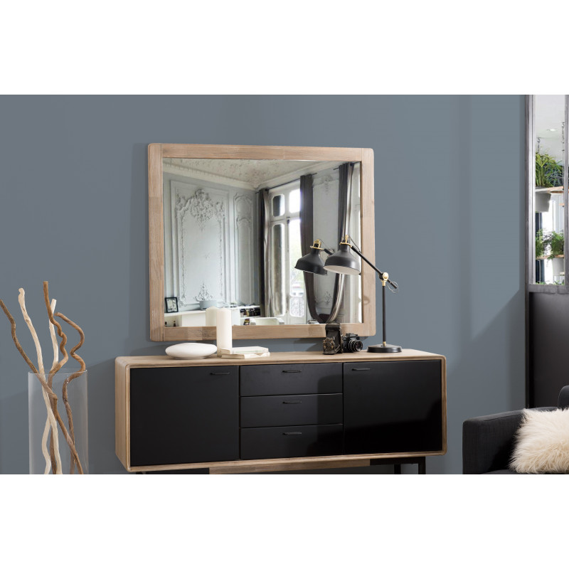 miroir scandinave en acacia olana so inside. Black Bedroom Furniture Sets. Home Design Ideas