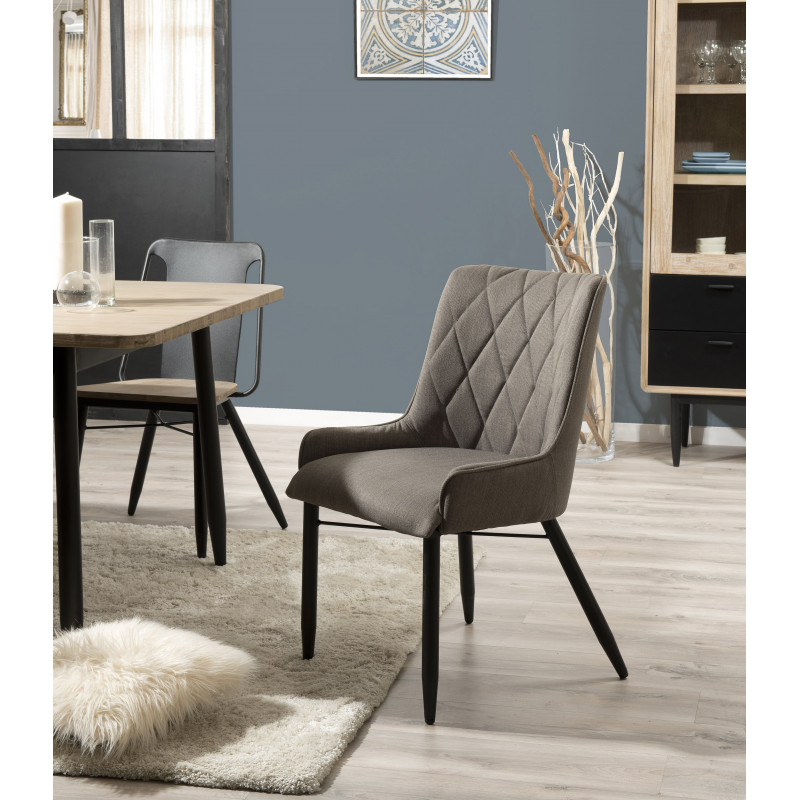 lot de 2 chaises cosy en tissu beige olana so inside. Black Bedroom Furniture Sets. Home Design Ideas