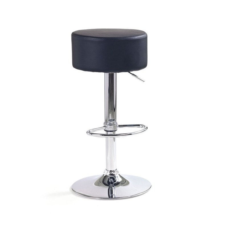 tabouret de bar noir damio. Black Bedroom Furniture Sets. Home Design Ideas