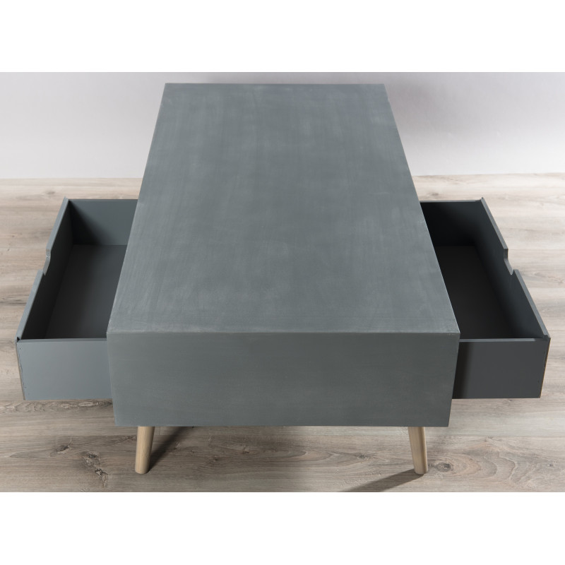 Table basse scandinave effet b ton th a so inside - Table effet beton ...