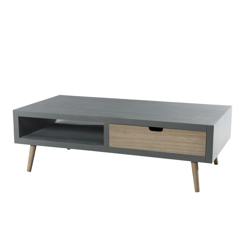 Table basse scandinave effet b ton th a so inside - Table basse effet beton ...