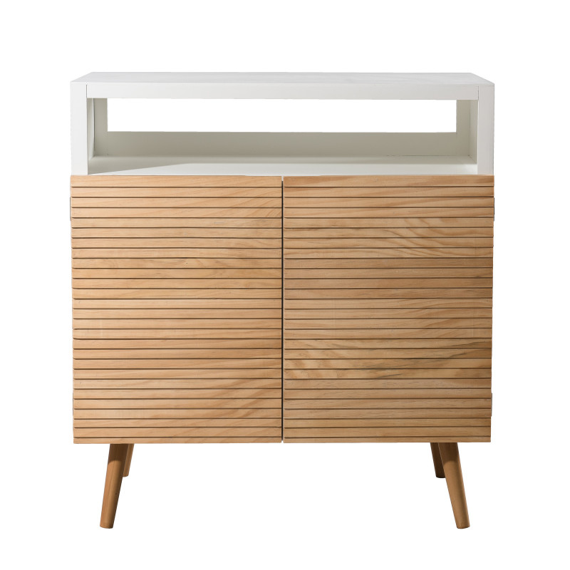 Buffet design scandinave bois et blanc ella so inside - Buffet bois et blanc ...
