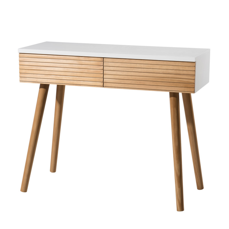 console design scandinave bois et blanc ella so inside. Black Bedroom Furniture Sets. Home Design Ideas