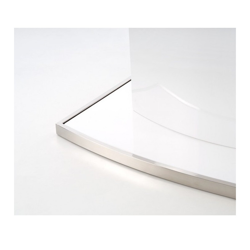 Table A Manger Ovale Extensible Blanc Laque Rico