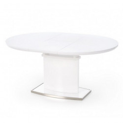 Table salle a manger ovale blanche Rico
