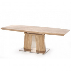 Table à manger extensible bois métal 160-220 x 90cm Datio