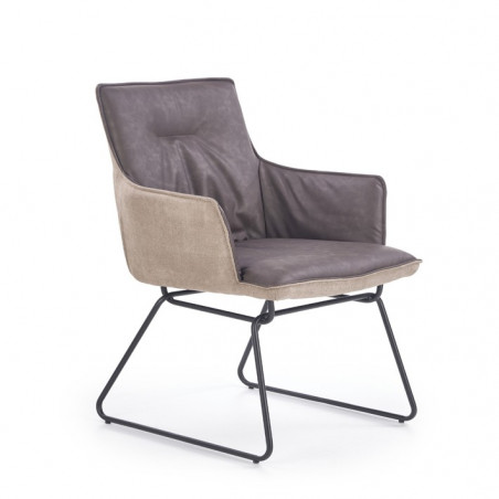 Chaise design confortable avec accoudoirs Loan