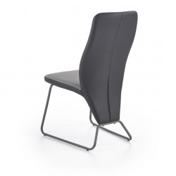 Chaise contemporaine gris et noir Wendy