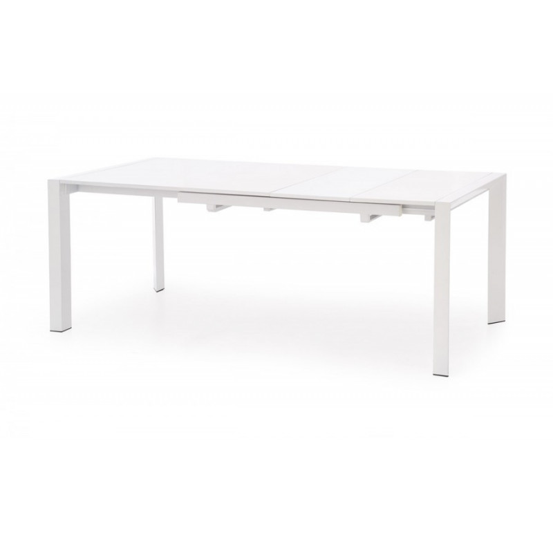 table manger extensible blanc laqu mike so inside. Black Bedroom Furniture Sets. Home Design Ideas