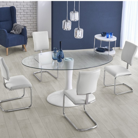 Table moderne ovale ronde Sunny