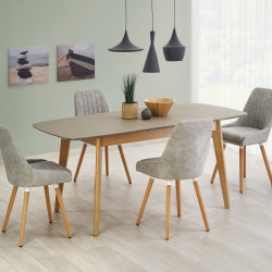 Table scandinave bois et gris mat Stockholm
