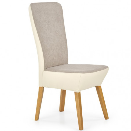 Chaise contemporaine chic bicolore beige Angel