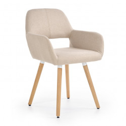 Chaise confort scandinave beige Will