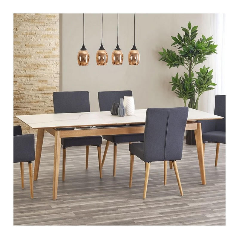 Table scandinave extensible 180cm x 220cm plateau for Table nordique extensible