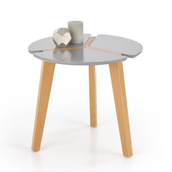 Table d'appoint ronde grise design Akva