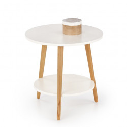 Table d'appoint ronde double plateau Virgile