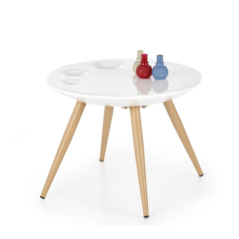 Table d'appoint design scandinave ronde Narvik