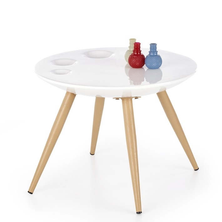 Table D Appoint Design Scandinave Ronde Narvik 60x45cm So Inside