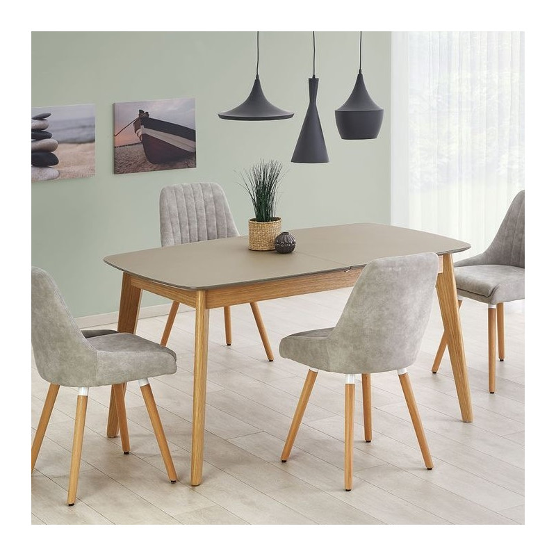 table scandinave bois et gris mat 150cm x 190cm stockholm so inside. Black Bedroom Furniture Sets. Home Design Ideas