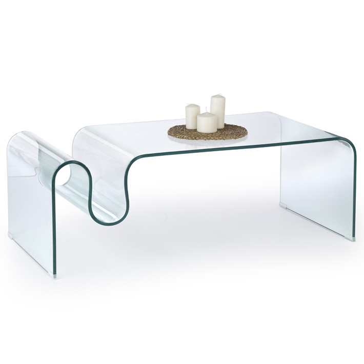 Table Basse En Verre Design Haut De Gamme.Table Basse Design En Verre Umeo 120x60cm