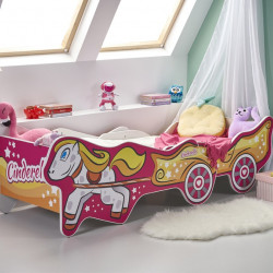 Lit enfant longeur ajustable 165+205x79 cm customisé déco fille Cindy