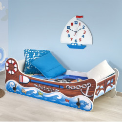 lit enfant bateau bascule avec matelas et sommier matelot so inside. Black Bedroom Furniture Sets. Home Design Ideas