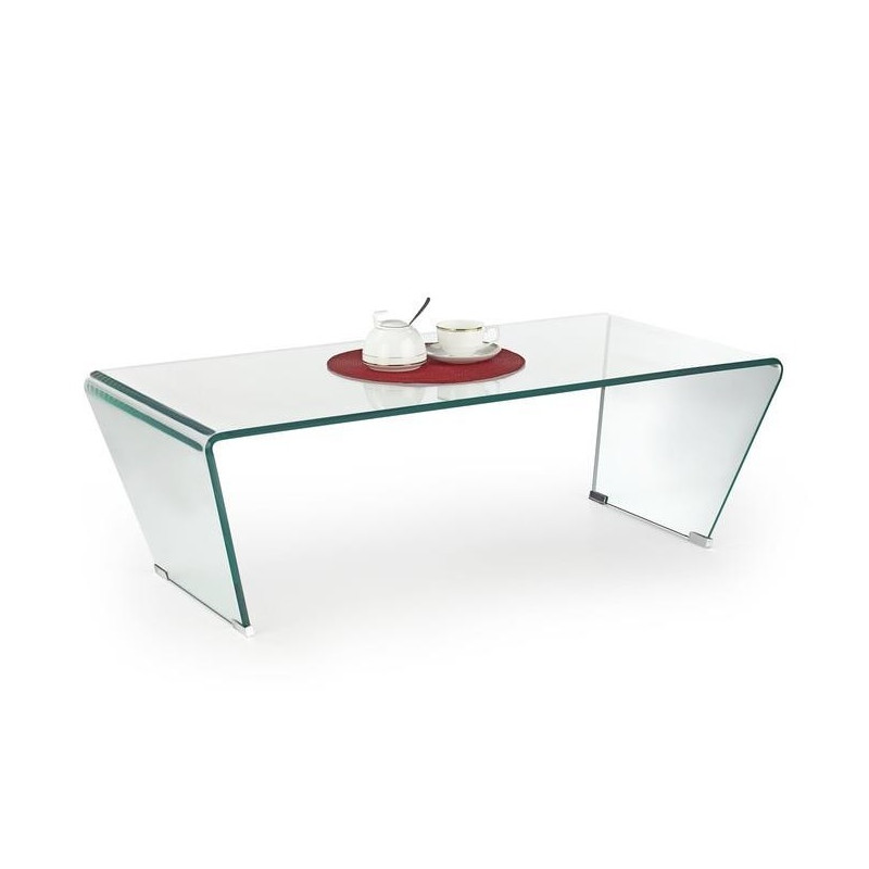 Table basse design épuré en verre Colorado 120x60cm