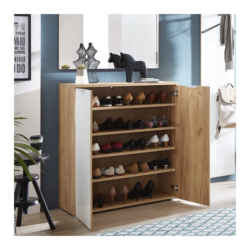 meuble chaussures scandinave 20 paires rosvik so inside. Black Bedroom Furniture Sets. Home Design Ideas