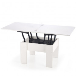 Table basse extensible blanche Wink 80x80cm