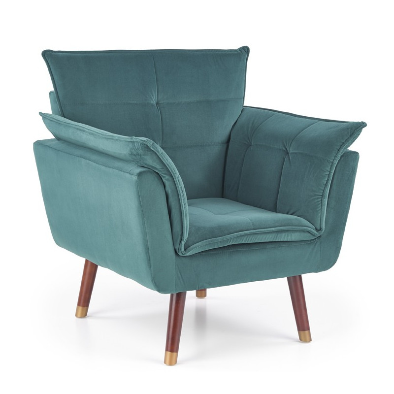 fauteuil tissu design et confort vert fonc starky so inside. Black Bedroom Furniture Sets. Home Design Ideas