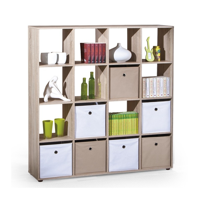 meuble de rangement biblioth que carr couleur bois danang so inside. Black Bedroom Furniture Sets. Home Design Ideas