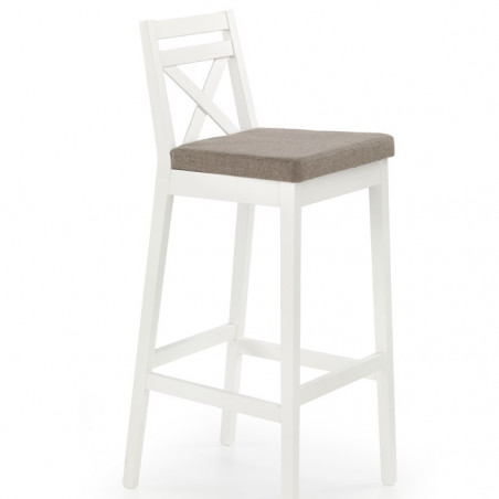 Chaise de bar design rustique blanche Orso