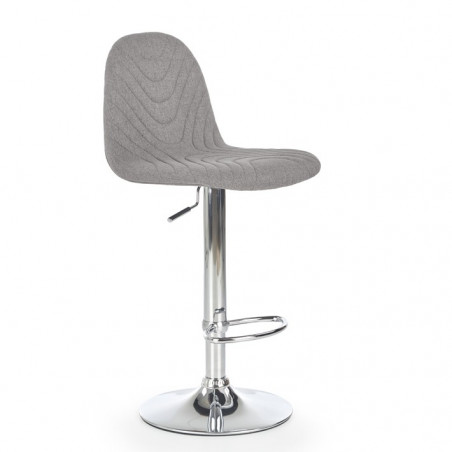 Chaise de bar design et confort gris Flavio
